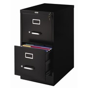 Latitude Run Scalzo 2 Drawer Letter-Size File Cabinet; Black