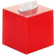 Latitude Run Scannell Tissue Box Cover; Red