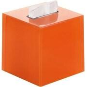 Latitude Run Scannell Tissue Box Cover; Orange