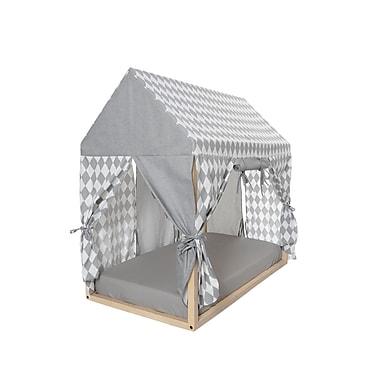 KidiComfort Full Coverage Rhombus & Solid Play House; Storm Gray