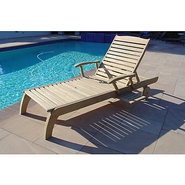 Darby Home Co Rotterdam Roble Wood Reclining Chaise Lounge