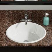 MRDirect Porcelain Oval Vessel Bathroom Sink; Bisque
