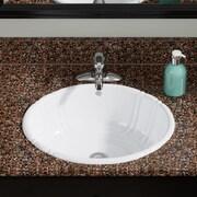 MRDirect Porcelain Oval Vessel Bathroom Sink; White