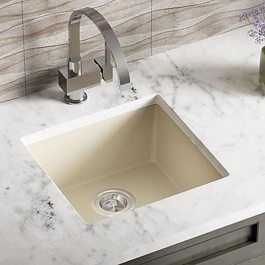MRDirect TruGranite 18'' x 8'' Undermount Kitchen Sink; Beige
