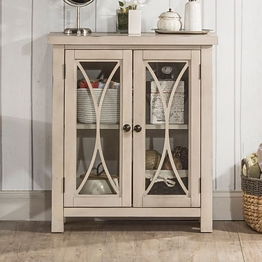 Bungalow Rose Sierra Madre 2 Door Accent Cabinet; White