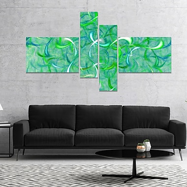 East Urban Home 'Green Watercolor Fractal Pattern' Graphic Art Print Multi-Piece Image on Canvas