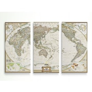 Astoria Grand 'National Geographic World Map' Graphic Art Print Multi-Piece Image on Wrapped Canvas