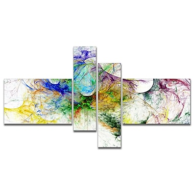 East Urban Home 'Wings of Angels Purple' Graphic Art Print Multi-Piece Image on Canvas
