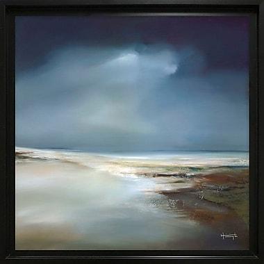 Highland Dunes 'Indigo Horizon II' Framed Painting Print on Canvas