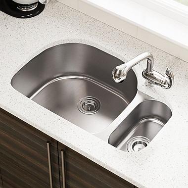 MRDirect Stainless Steel 32'' x 21'' Double Basin Undermount Kitchen Sink