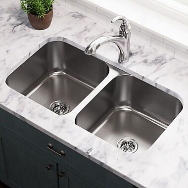 MRDirect Stainless Steel 33'' x 18'' Double Basin Undermount Kitchen Sink