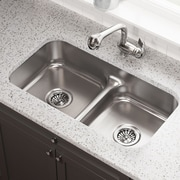 MRDirect Stainless Steel 32'' x 18'' Double Basin Undermount Kitchen Sink