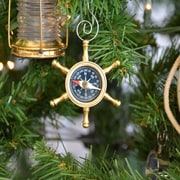 The Holiday Aisle Ship's Wheel Compass Christmas Tree Ornament