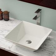 MRDirect Porcelain Square Vessel Bathroom Sink; Bisque