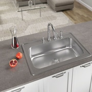 MRDirect Stainless Steel 33'' x 8'' Topmount Kitchen Sink; 4 hole