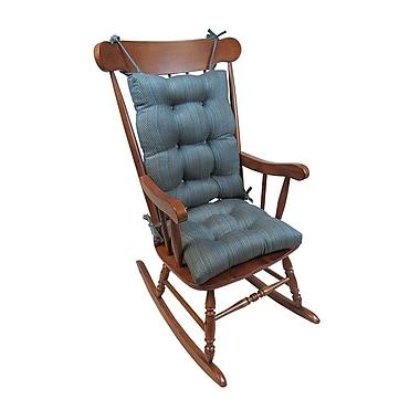Charlton Home Upholstery Rocking Chair Cushion; Aqua