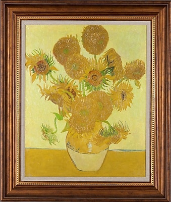 Charlton Home 'Sunflowers' Framed Painting Print on Wrapped Canvas