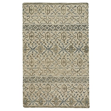 Darby Home Co Birch Hill Hand-Tufted Wool Beige Area Rug; 3'6'' x 5'6''
