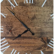 Foundry Select Oversized Ackermanville 30'' Stained Wood Wall Clock