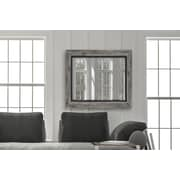 Longshore Tides Hilde Weathered Gray and Black Wall Mirror; 39'' H x 29'' W