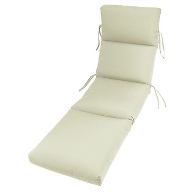 Latitude Run Outdoor Sunbrella Chaise Cushion (Set of 2); Canvas
