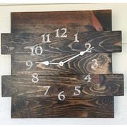 Loon Peak Oversized Almont Reclaimed Style Wood Wall Clock