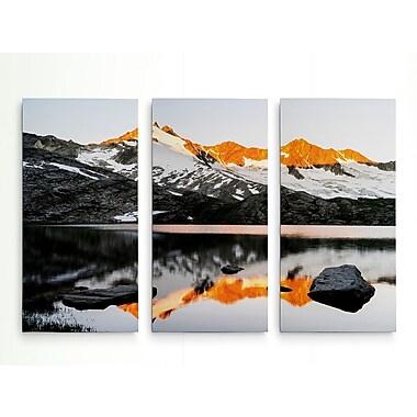 Loon Peak 'Sunrise at Upper Lake Gerlos' Photographic Print Multi-Piece Image on Wrapped Canvas