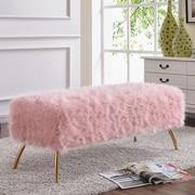 Mercer41  Palomar Upholstered Bench; Pink