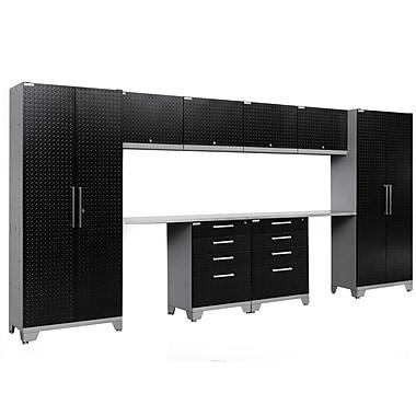 NewAge Products Performance 2.0 10-Piece Garage Storage Set, Diamond Plate Black