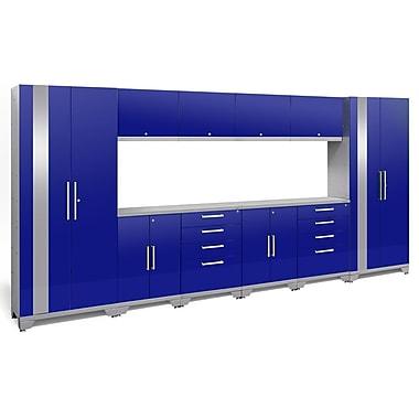 NewAge Products Performance 2.0 12-Piece Garage Storage Set, Blue (53794)