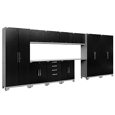 NewAge Products Performance 2.0 12-Piece Garage Storage Set, Diamond Plate Gloss Black