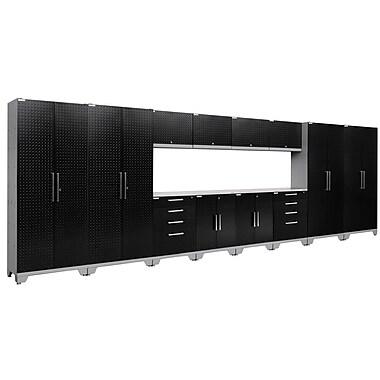 NewAge Products Performance 2.0 14-Piece Garage Storage Set, Diamond Plate Black