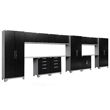NewAge Products Performance 2.0 15-Piece Garage Storage Set, Diamond Plate Black