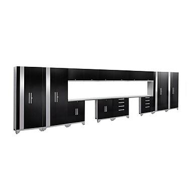 NewAge Products Performance 2.0 16-Piece Garage Storage Set, Black