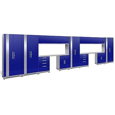 NewAge Products Performance 2.0 16-Piece Garage Storage Set, Blue