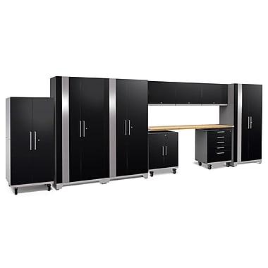 NewAge Products Performance Plus 2.0 10 Piece Garage Storage Set, Bamboo Work Top, Black (53084)