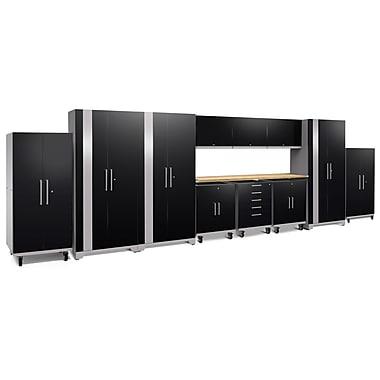 NewAge Products Performance Plus 2.0 12-Piece Garage Storage Set, Black