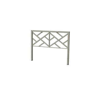 Amisco – Tête de lit Windmill en métal, taille de lit double, gris pâle (1439054TLC56)