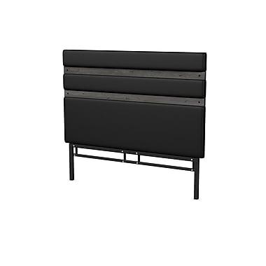 Amisco – Tête de lit Elgin, taille grand lit, noir charbon (1462560TDA89)