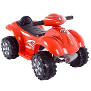 Lil' Rider Ride On Toy Quad, Raptor, Battery Powered, 4 Wheeler, Red