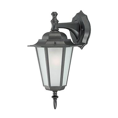 Charlton Home Stovall 1-Light Outdoor Wall Lantern; Matte Black