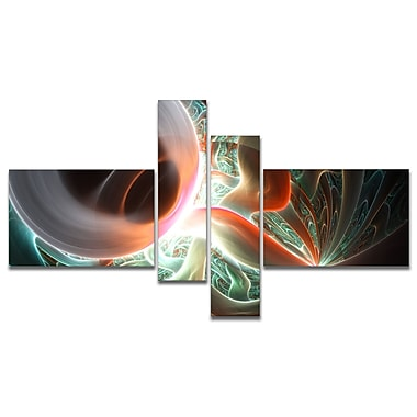 East Urban Home 'Shining Brown Silver on Black' Graphic Art Print Multi-Piece Image on Canvas