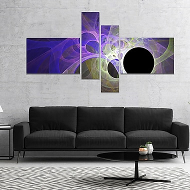 East Urban Home 'Blue Fractal Angel Wings' Graphic Art Print Multi-Piece Image on Canvas