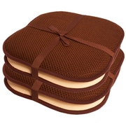 Ebern Designs Indoor/Outdoor Dining Chair Cushion (Set of 4); Brown