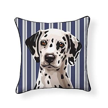 East Urban Home Pooch Dalmatian Outdoor Throw Pillow