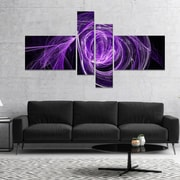 East Urban Home 'Purple Ball of Yarn' Graphic Art Print Multi-Piece Image on Canvas