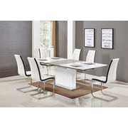 Orren Ellis Sudha 5 Piece Extendable Dining Set; White