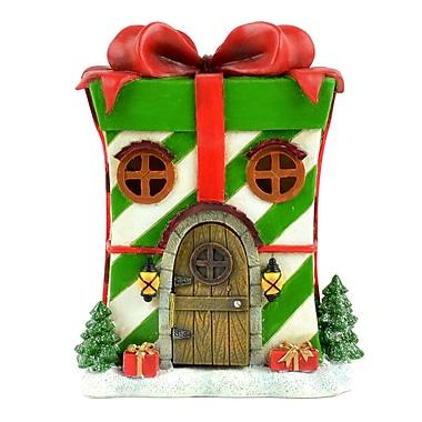 The Holiday Aisle LED Christmas Resin Present House