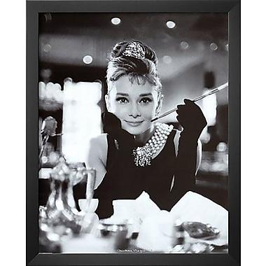 Latitude Run 'Audrey Hepburn Breakfast at Tiffany's Movie Poster' Framed Photographic Print