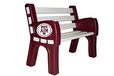 Imperial Wooden Park Bench; Texas A & M